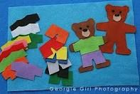 dress up bear...colors, could do patterns, or shirts with letters or numbers...DIY toddler activities for early learning : Parenting Clan