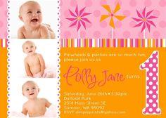 invitations, polka dots, pinwheel invit, shops, pinwheel parti, pinwheels, 1st birthday, prints, parti idea