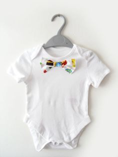 Baby Bowtie onesie by TheWhiteGooseCompany,  Such a cute idea for a baby boy #sewforbaby