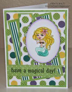 Crafty Girl 21!: Mermaid Card
