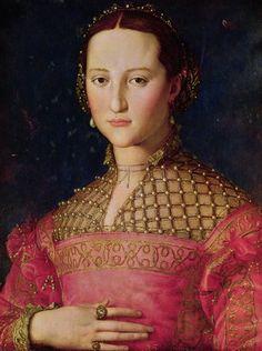 Eleanor of Toledo  byAgnolo di Cosimo(November 17, 1503 – November 23, 1572), usually known asIl Bronzino, orAgnolo Bronzino