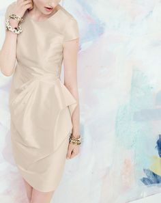 J.Crew Carson dress in silk dupioni. To preorder call 800 261 7422 or email erica@jcrew.com.