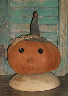 Primitive Pumpkin Head by PrairiePrimitives