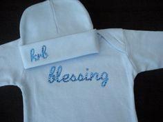 LIL PRINCE  Personalized Newborn Boy Gown and by SpunkyLilMonkey, $24.00