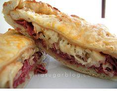 cheese & reuben calzones