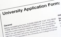 College Selection  Application Options