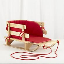 Holiday Gear: Little Red Wooden Sled in New Toys and Gifts | The Land of Nod