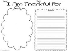 I Am Thankful For Writing inspired by Thanksgiving is for