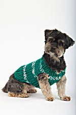 National Dog Day is almost over but that doesn't mean you can't treat your pet to something nice next week.  Knit this Sports Nut Dog Sweater in your favorite team colors for the next game.