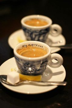 Double Espresso. Nothing like a good shot or two... Every morning!!