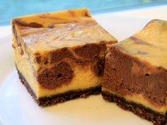 chocolate pumpkin cheesecake squares