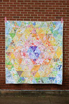 Vintage Sheet Patchwork Prism Quilt by jenib320, via Flickr