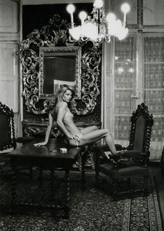Charlotte Rampling at the Hotel Nord Pinus II, shot by Helmut Newton for Vague Maqazine in December 1974