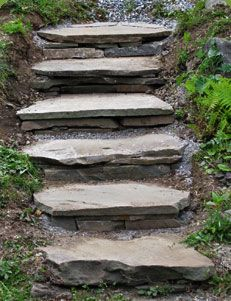 Shades of Green Gardening Tutorial: How to Build Rustic Flagstone Garden Steps