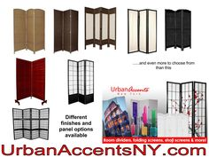 Any of these prefabricated room dividers can be accessorized in your own style.  Add beads, photos, glitter, paint over, get creative.