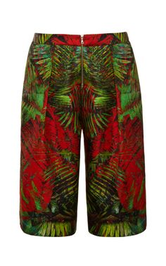 Long Printed Satin Shorts by Josh Goot Now Available on Moda Operandi