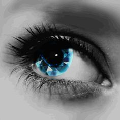 Diamond contact lenses!