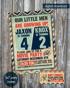 Joint Birthday Party Invite  Digital by madewithlovebyalesha, $20.00