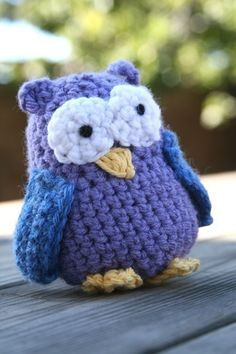 Crocheted owl.