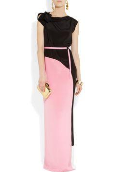 Roksanda Ilincic|Hamlin paneled silk gown|NET-A-PORTER.COM