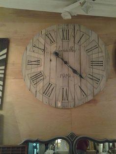 Custom made Versailles 4 1/2 ft pallet clock  http://www.facebook.com/2ndEssence