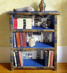 book case made from books