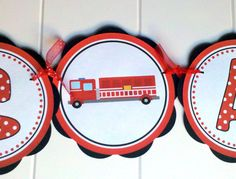 fireman baby shower decorations -