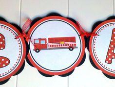 fireman baby shower decorations -