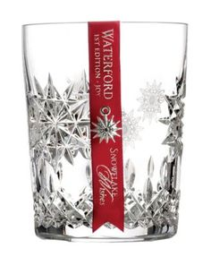 snowflake double old fashioned glass - perfect gift for the holidays