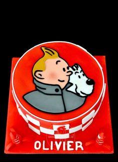 Tintin cake gateaux for Oliver • Tintin birthday party • Tintin gateaux