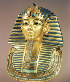 Image: The gold funeral mask of King Tut. (© The Gallery Collection/Corbis)