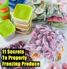 11 Secrets To Properly Freezing Produce - SHTF Preparedness