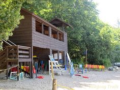 The Sandy Beach Waterfront at Camp #Yawgoog.  A 2014 image by David R. Brierley.