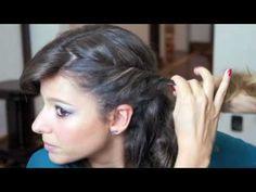 Tutorial Two Dots: penteado lateral com enroladinho..