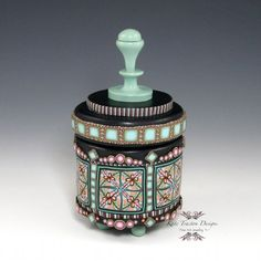 Polymer Clay Canister Pot by Kate Tracton Designs,