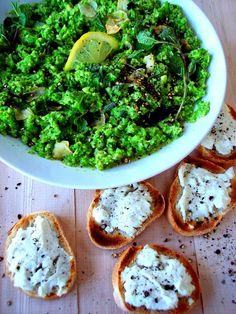 Smashed Peas with Ricotta Toasts - Proud Italian Cook