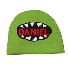 Personalized Big Mouth Monster Kids Hat available at psychobabyonline.com