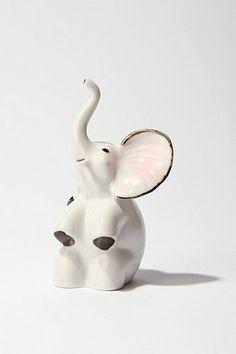 Ceramic Elephant Ring Holder