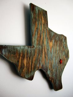 Blue Wood Texas Wall Decor with Star where YOU live by BlueSawdust, $20.00