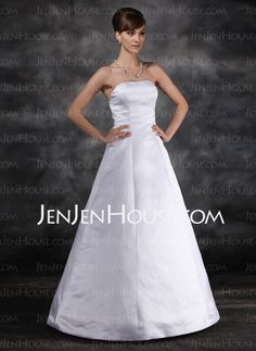 Wedding Dresses - $119.99 - Ball-Gown Strapless Floor-Length Satin Wedding Dresses (002022560) http://jenjenhouse.com/Ball-Gown-Strapless-Floor-Length-Satin-Wedding-Dresses-002022560-g22560