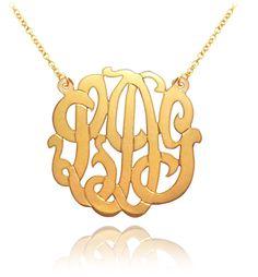 Keti Sorley 24kt Gold Monogrammed Necklace $77