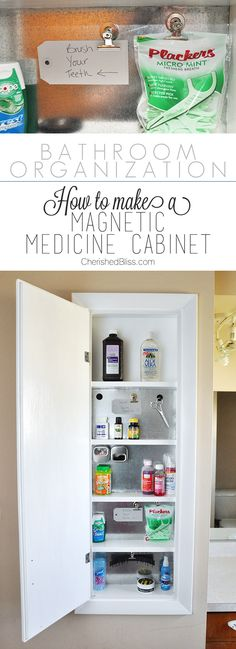 Bathroom Organization with ProBond: Get organized with this DIY Magnetic Medicine Cabinet