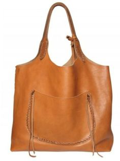 Ralph Lauren Stitched Leather Tote