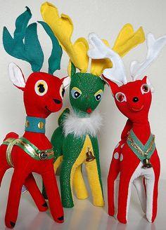 Retro reindeer.