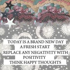 Today is a brand new day, a Fresh start!