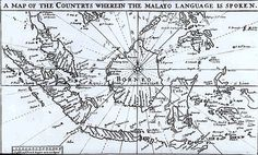From the Asian and African blog post 'British Library's Malay manuscripts to be digitised'. Image: A map showing the area over which the Malay language was commonly spoken, from the first original Malay-English dictionary, by Thomas Bowrey, 1701.