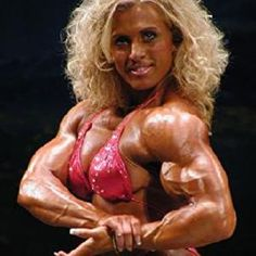 This is something you do not expect in a woman. Yes, there are may muscular women out there, but if you are a woman and your muscles start to become like this picture...then it just does not look right.