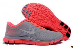 Nike Free 4.0 V2 Womens Running Shoes - Grey/Pink