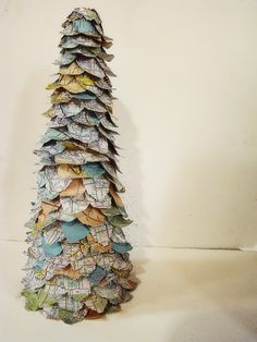 Map Tree Tutorial, SO doing this. Perfect for my map theme in my room. From maryjanesandgaloshes.com