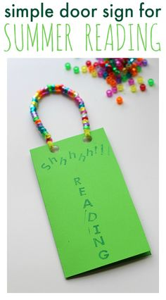 Help your child make a do-not-disturb door sign you can be proud of -- one for quiet reading time! Our #RaiseaReader blog has more. door signs, craft idea, elementari teacher, librari stuff, teach idea
